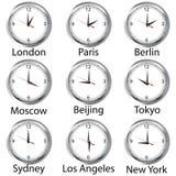 Horas del mundo Fotografía de archivo