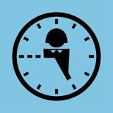 Horas do trabalhador de escritório Foto de Stock Royalty Free