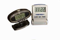 Horas eletrônicas - despertadores Fotografia de Stock Royalty Free