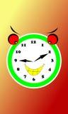 Horas engraçadas da expressão Foto de Stock Royalty Free