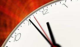 Horas que passa a vista macro Foto de Stock