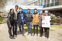48 horas todas hacia fuera pegan para Junior Doctors, el 26 de abril de 2016 Fotos de archivo