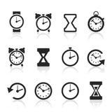 Horas um icon2 Fotografia de Stock