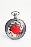 Horas y corazón Imagenes de archivo