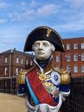 Horatio纳尔逊阁下海军上将雕象  免版税库存照片