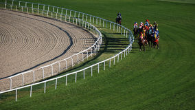 Horce Racing. Ankara, Turkey - October 29, 2011 - October 29 Republic Day horse races at Hippodrome Stock Photo