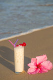 Horchata on the beach Royalty Free Stock Image