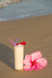 Horchata on the beach Stock Images