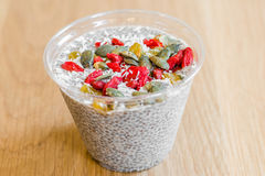 Horchata Chia Pudding Photos libres de droits