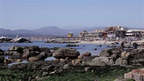 Horcon, Chile. Fishermen`s Cove of Horcon, Chile stock video