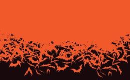 Horda del palo de Halloween que vuela palos anaranjados stock de ilustración