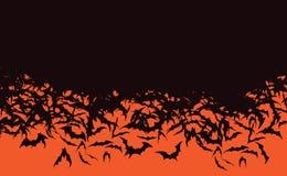 Horda del palo de Halloween que vuela palos negros stock de ilustración