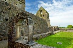 Hore-Abtei, ruiniertes Cistercian Kloster nahe dem Felsen von Cashel, Irland Lizenzfreie Stockfotografie