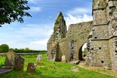 Hore-Abtei, ruiniertes Cistercian Kloster nahe dem Felsen von Cashel, Irland Lizenzfreie Stockbilder