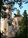 Hores de Cimbori i torre de les, Monestir de Santes Creus (Cataluña) Imagen de archivo libre de regalías