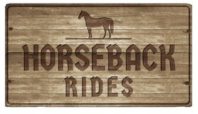 Horesback Rides Sign Wood Carved. Horse Horseback Rides Sign Wood Carved Old Retro Western Stallion Mustang Sports Vacation Rental vector illustration