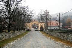 Horezu Monastery. Gate in Valcea, Romania Royalty Free Stock Images