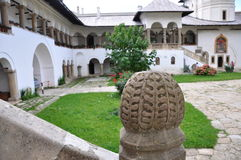 Horezu Monastery. Horezu Ortodox Monastery in Romania, founded in 1690 by Constantin Brancoveanu Stock Photo