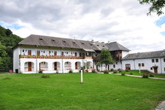 Horezu Monastery. Horezu Ortodox Monastery in Romania, founded in 1690 by Constantin Brancoveanu. This is the living quarters Royalty Free Stock Image