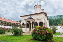 Horezu monastery in town of Horezu, Romania Royalty Free Stock Photo