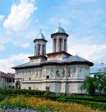 Horezu old church. Horezu city romania old church landmark architecture Stock Image