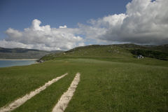 Horgabost, Harris, Hebrides esterno, Scozia Fotografie Stock