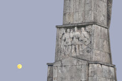 Horia,Closca and Crisan Obelisk in Alba Iulia fortress royalty free stock photography