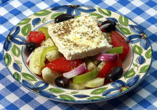 Horiatiki Greek salad. Food served at the Greek restaurant in Belgrade Serbia July 7. 2007.  (credit image: Pedja Milosavljevic Stock Photography