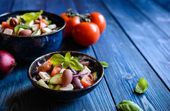 Horiatiki salata - traditional Greek salad Stock Photography