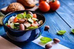 Horiatiki salata - traditional Greek salad Royalty Free Stock Photography
