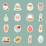 Horiday easter icons Royalty Free Stock Photography