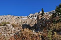 Horio village, Halki island Stock Image