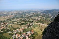 Horison in San Marino. Panorama wiew in San Marino Stock Photo