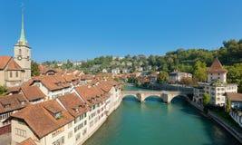 Horisont över den gammala townen av Bern Royaltyfri Bild