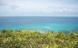 Horisont över turkosStilla havet Royaltyfri Bild
