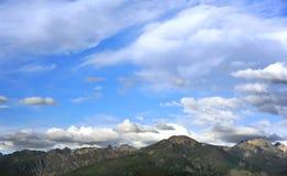 Horisont av Absaroka berg Royaltyfri Foto