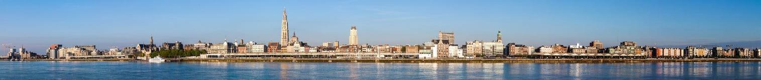 Horisont av Antwerp Royaltyfri Bild