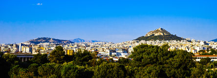 Horisont av Athens Royaltyfri Bild
