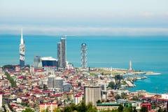 Horisont av Batumi, Georgia arkivbild
