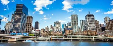 Horisont av Brisbane Australien Arkivbilder