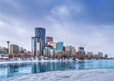 Horisont av Calgary Arkivbild