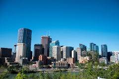 Horisont av Calgary arkivfoto