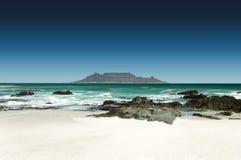 Horisont av Cape Town, Sydafrika royaltyfri fotografi