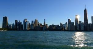 Horisont av Chicago Royaltyfri Foto