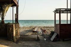 Horisont av den Black Sea kusten på en solig dag Royaltyfria Bilder