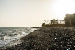 Horisont av den Black Sea kusten på en solig dag Arkivbilder