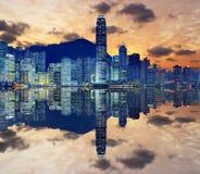 Hong Kong horisont Royaltyfria Foton