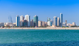 Horisont av den Manama staden, Bahrain, Mellanösten Arkivbilder