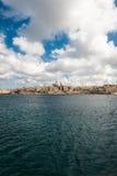Horisont av den Valletta staden Arkivfoton