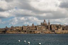 Horisont av den Valletta staden Arkivfoto